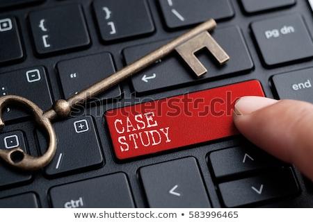 Caso estudar vermelho teclado botão preto Foto stock © tashatuvango