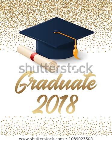graduate icon on triangle background stock photo © tashatuvango