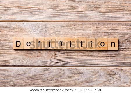 Qualité dictionnaire définition mot soft accent Photo stock © chris2766
