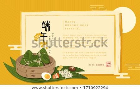 китайский · продовольствие · продовольствие · мяса · бамбук · азиатских - Сток-фото © fisher