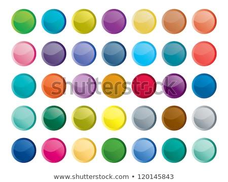 Vert brillant icônes bouton affaires Photo stock © Lota