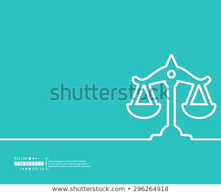 justice concept on triangle background stock photo © tashatuvango