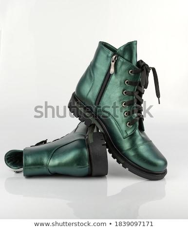 黒 · フェティッシュ · スタイル · 靴 · 孤立した · 白 - ストックフォト © elisanth