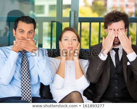 businessman - see no evil stock photo © dgilder