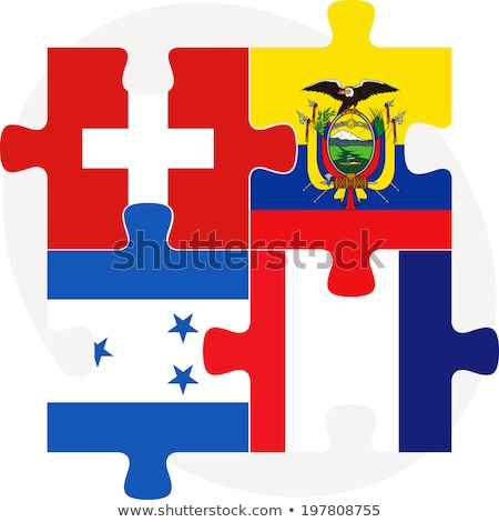 swiss ecuador french and honduras flags in puzzle stock photo © istanbul2009