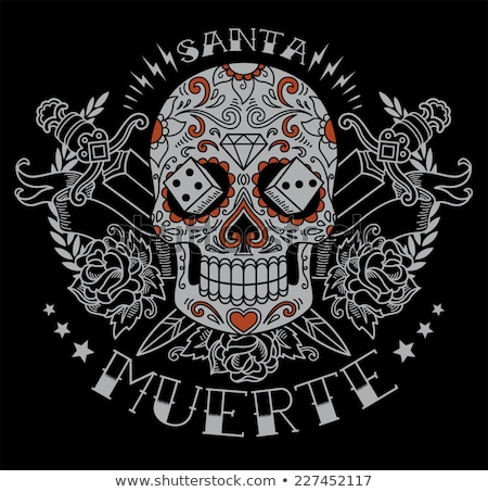 Sword and Day of Dead Skull Stock photo © xochicalco