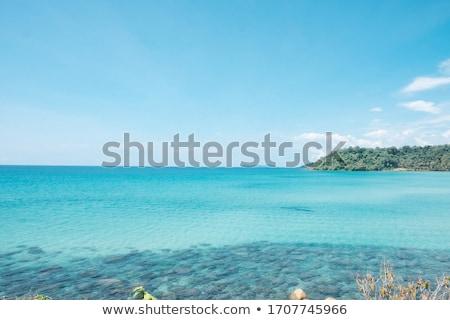 Deniz görmek açık gökyüzü plaj kum tatil Stok fotoğraf © sundaemorning