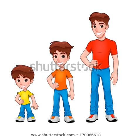 Child, boy and man, description of age. Stock photo © ddraw