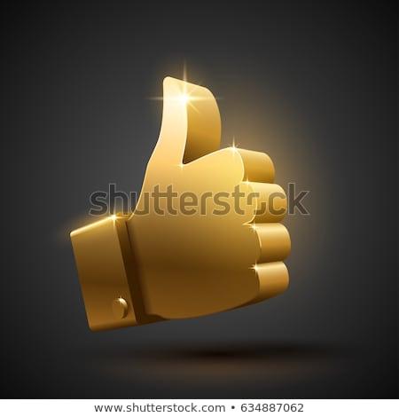 Bağlantı imzalamak altın vektör ikon düğme Stok fotoğraf © rizwanali3d