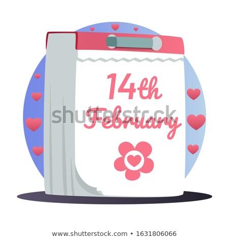Valentine day concept. February 14th on desk calendar at office  Stock photo © stevanovicigor