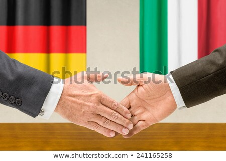 Germania Italia stringere la mano business mani successo Foto d'archivio © Zerbor