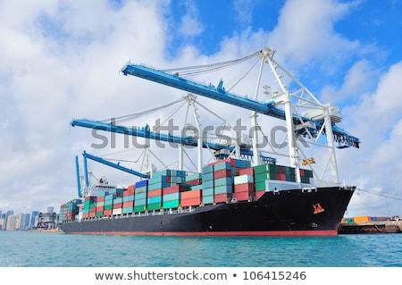 szállítás · kikötő · lövés · hajó · üzlet · víz - stock fotó © meinzahn