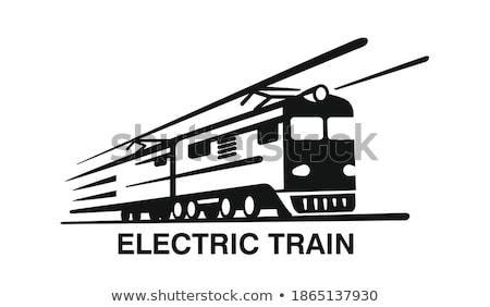Dizel lokomotif yaz yeşil renk bağbozumu Stok fotoğraf © remik44992