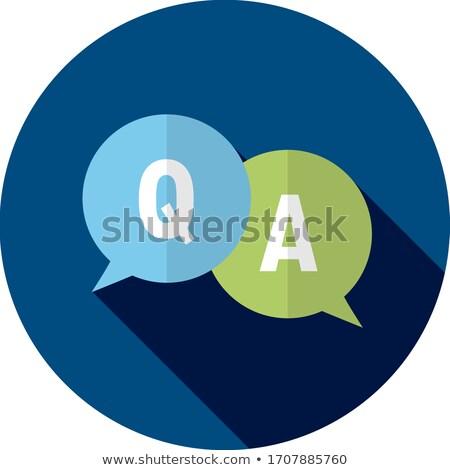 tech support blue circular vector button stock photo © rizwanali3d