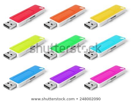 Flash drives set with shade isolated on white background. Stock photo © Leonardi