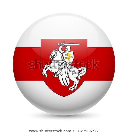 Düğme simge Belarus bayrak harita beyaz Stok fotoğraf © mayboro1964