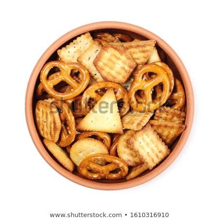 sós · harapnivalók · választék · zöld · tányér · háttér - stock fotó © klinker