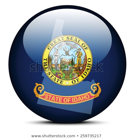 map on flag button of usa idaho state stock photo © istanbul2009