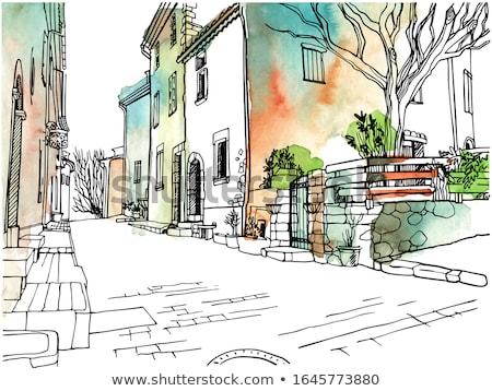 oude · steen · weg · trottoir · textuur · muur - stockfoto © meinzahn