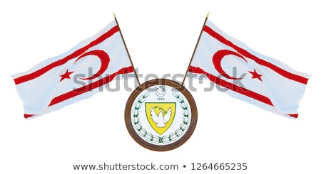 USA and Turkish Republic Northern Cyprus - Miniature Flags. Stock photo © tashatuvango