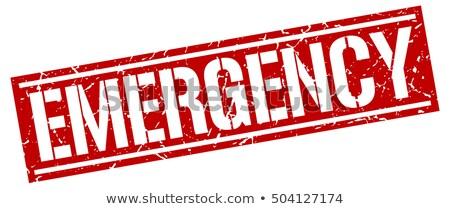 Piros bélyeg vészhelyzet telefon keret ír Stock fotó © Zerbor