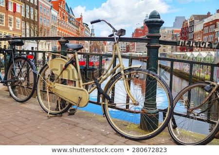Fietsen bloem markt Amsterdam Nederland Stockfoto © AndreyKr