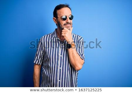 肖像 · 混乱 · ファッション · 男 · サングラス · 乱雑な - ストックフォト © feedough