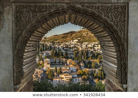 表示 · アルハンブラ宮殿 · 宮殿 · スペイン · 教会 · 古代 - ストックフォト © rmbarricarte
