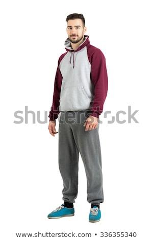 Isolated man in sport wear Stock photo © fuzzbones0