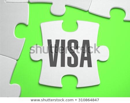 Visa - Jigsaw Puzzle with Missing Pieces. Stock photo © tashatuvango