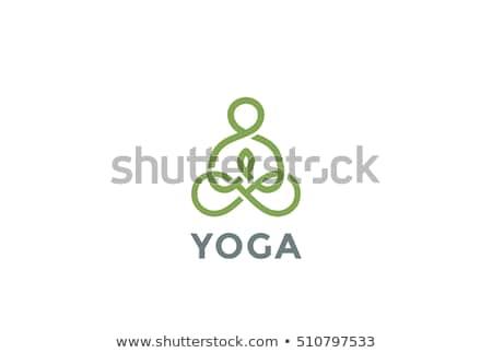 Yoga spa vector diseno Foto stock © blaskorizov