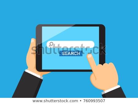 ストックフォト: 手 · 触れる · 検索 · バー · タブレット · 画面