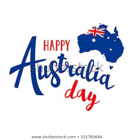 Australia flag on shirt Stock photo © fuzzbones0
