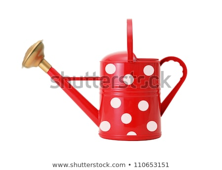 red polka dot watering can isolated on white Stock photo © tetkoren