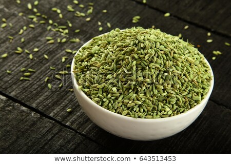 top view of bowl of organic fennel seed stock photo © ziprashantzi