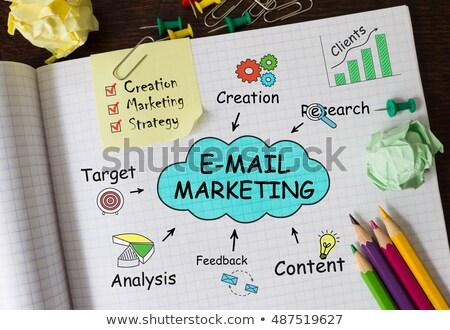 E-mail marketing cloud Stock photo © fuzzbones0