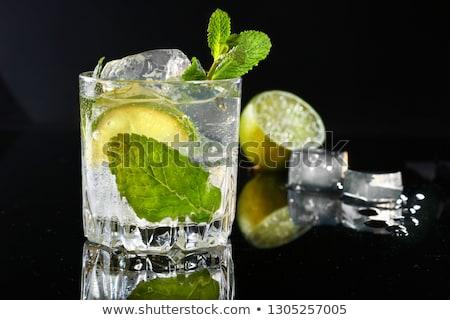 Cuba · cocktail · mint · kalk · ijs · glas - stockfoto © netkov1