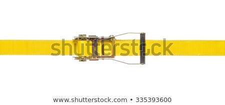 Yellow ratchet strap on a white background Stock photo © Zerbor
