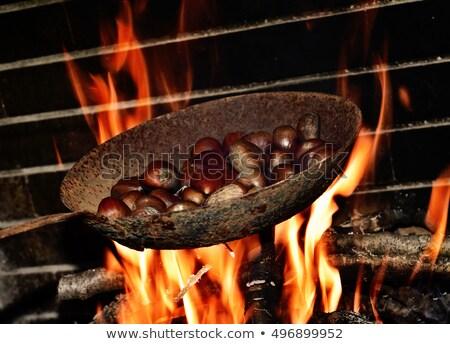 пламя огня пер фрукты осень Сток-фото © nito