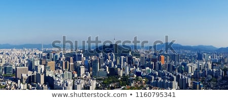 Seoul skyline at the gangnam district Stock photo © leungchopan