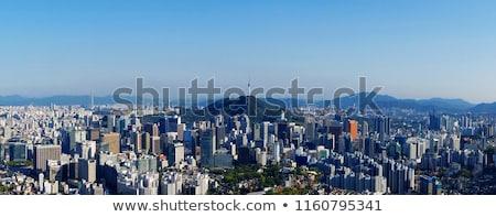 kép · belváros · kapu · szürkület · kék · óra - stock fotó © leungchopan