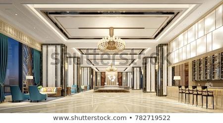 Hotel lobby with modern design Stock photo © Elnur
