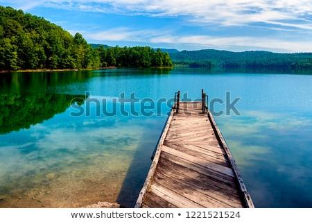 Fából készült dokk tó Virginia USA alumínium Stock fotó © dutourdumonde
