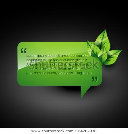 Eco Friendly Red Vector Icon Design Stock photo © rizwanali3d
