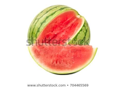 karpuz · iki · yalıtılmış · dilimleri · gıda · meyve - stok fotoğraf © elgusser