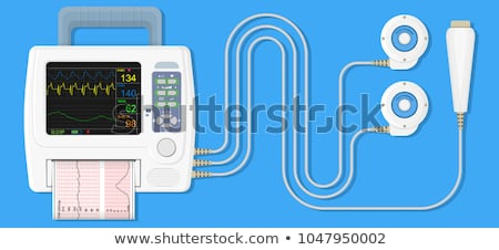 monitor for measuring of labor contractions stock photo © phbcz