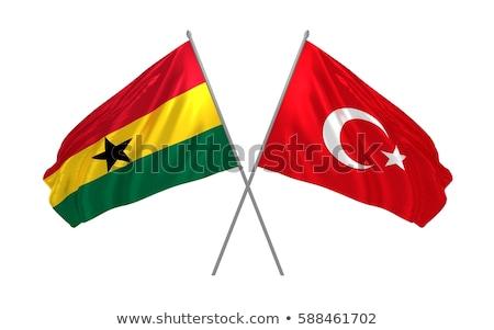 Turkey and Ghana Flags Stock photo © Istanbul2009