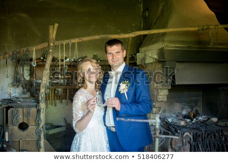 casamento · casal · ferradura · noiva - foto stock © kzenon