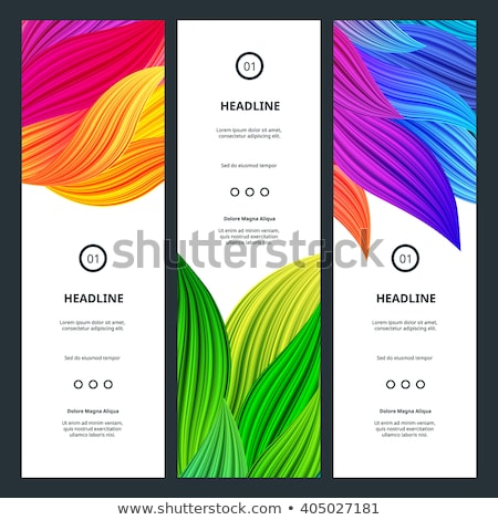 vibrant floral vertical banners stock photo © sdmix