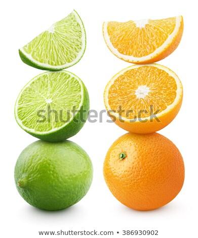 kireç · dilimleri · meyve · yalıtılmış · bileşen - stok fotoğraf © caldix